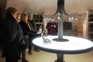 Tasting in the crypt - Chateau Bellet